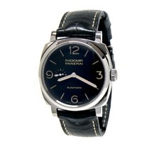 Panerai Radiomir 1940 3 Days Automatic PAM00572 Panerai RADIOMIR Acciaio Nero Pelle Secondi 45mm nov
