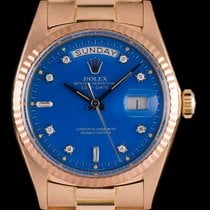 Rolex Rare Day-Date Blue Stella Diamond Dial 1803