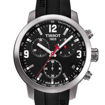 Tissot PRC 200 pre-owned 42mm Black Chronograph Date Rubber