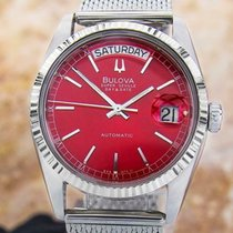 Bulova pre-owned Automatic 36mm Red Sapphire Glass