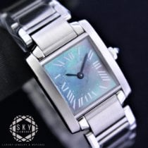 Cartier Tank Française Steel 20mm Mother of pearl Roman numerals United States of America, New York, NEW YORK