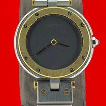 Cartier Santos (submodel) Złoto/Stal 32mm Biały Rzymskie