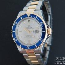 Rolex Submariner Date Gold/Stahl 40mm Silber