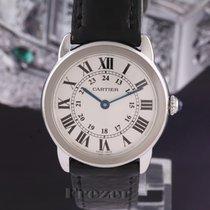 Cartier Ronde Solo de Cartier Stahl 29.5mm Silber Römisch