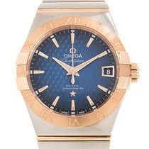 Omega 123.20.38.21.03.001 Or/Acier Constellation Men 36mm nouveau