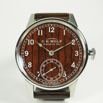 C.H. Wolf Steel Manual winding Brown 45mm new