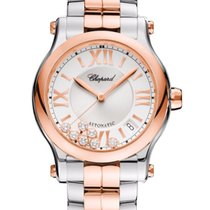 Chopard Happy Sport Diamonds, Stainless Steel 18K & Rose...