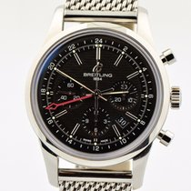 Breitling Transocean Chronograph Gmt Limited Black Dial B04...