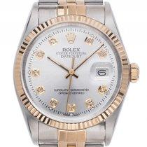 Rolex Datejust Stahl Gelbgold Diamond Automatik Armband Jubilé...