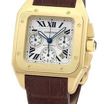 Cartier Santos 100 XL Chronograph Yellow Gold