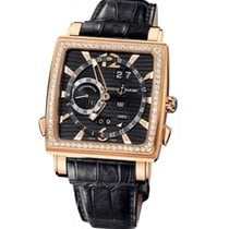 Ulysse Nardin Quadrato Dual Time Perpetual Oro rosado 42mm Negro