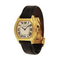 Cartier Tortue Yellow gold 28mm Silver Roman numerals United States of America, New York, New York