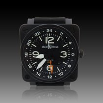 Bell & Ross BR 01-93 GMT Otel 46mm Negru Arabic