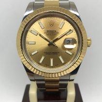 Rolex Datejust II tweedehands 41mm Goud/Staal