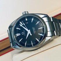 Omega Used Aqua Terra Seamaster Quartz Black Dial Mens watch + B