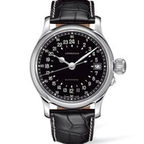 Longines Twenty-Four Hours Steel 47mm Black Arabic numerals