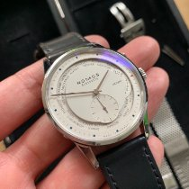NOMOS Zürich Weltzeit Steel White No numerals United States of America, California, Los Altos