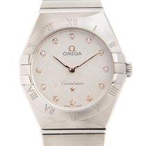 Omega Constellation Quartz Acciaio 28mm Argento