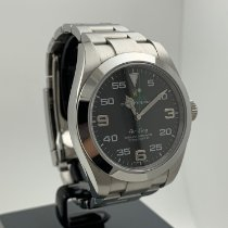Rolex Air King Precision Steel 40mm Black Arabic numerals
