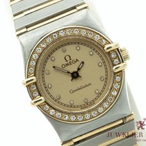 Omega Constellation Ladies Gold/Steel 25mm Champagne