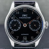 IWC Portuguese Automatic pre-owned 42mm Black Date Leather