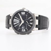 Ulysse Nardin Executive Dual Time Steel 43mm Black No numerals