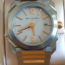Bulgari Octo Gold/Steel 38mm White No numerals