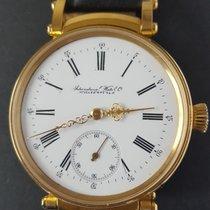 IWC neu Handaufzug Sichtboden Kleine Sekunde Edelsteinbesatz Chronometer 48mm Gold/Stahl Mineralglas