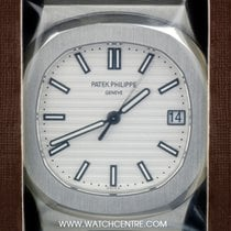 Patek Philippe S/S Double Sealed White Dial Nautilus Gents...