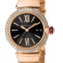 Bulgari Lvcea Rose Gold Automatic 33mm Ladies Watch