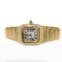 Cartier Santos Quartz 18k Yellow Gold Custom MOP Dial