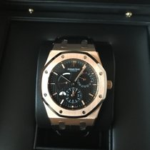 Audemars Piguet 26120OR.OO.D002CR.01 Rose gold 2009 Royal Oak Dual Time 39mm new