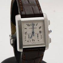 Cartier Tank Française Steel 30mm White Roman numerals