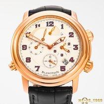 Blancpain Léman Réveil GMT Růžové zlato 40mm Bílá Arabské