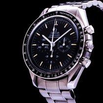 Omega Staal Handopwind Zwart 42mm tweedehands Speedmaster Professional Moonwatch