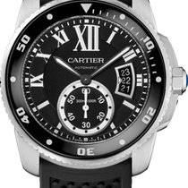 Cartier Calibre de Cartier Diver Steel 42mm Black Roman numerals