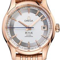 Omega De Ville Hour Vision Oro rosado 41mm Plata Sin cifras