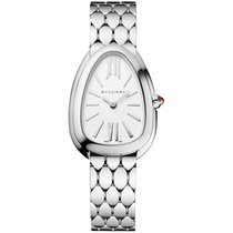 Bulgari Serpenti Steel 33mm White No numerals