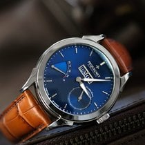 Pequignet Steel Automatic Blue No numerals 42mm new Rue Royale