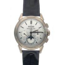 Patek Philippe Or blanc Remontage manuel Argent Sans chiffres 41mm occasion Perpetual Calendar Chronograph