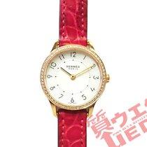 Hermès Rose gold Quartz Silver 25mm pre-owned