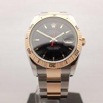 Rolex Datejust Turn-O-Graph Золото/Cталь 36mm Чёрный