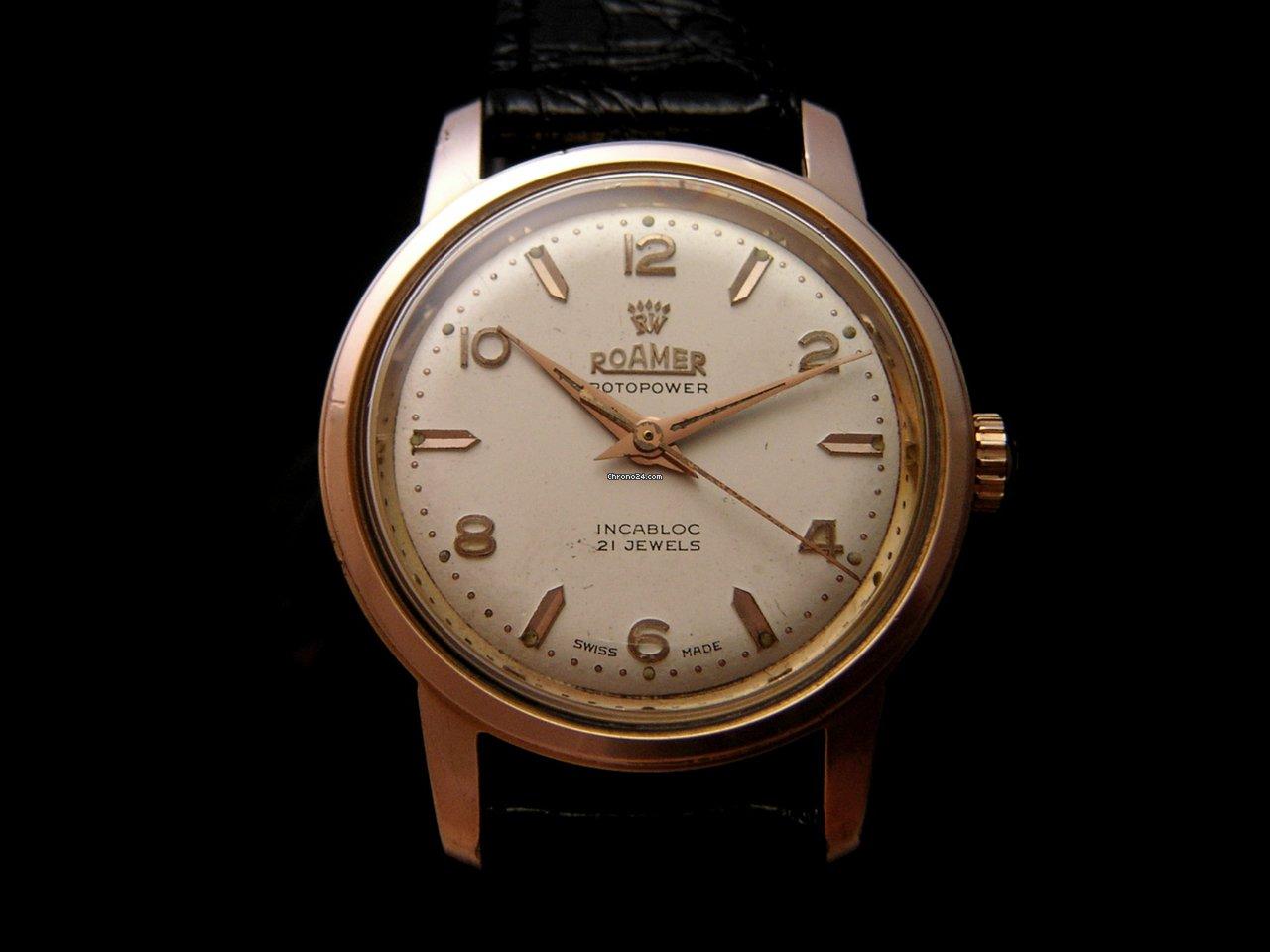roamer vintage rotopower watch 60 39 s sold on chrono24. Black Bedroom Furniture Sets. Home Design Ideas