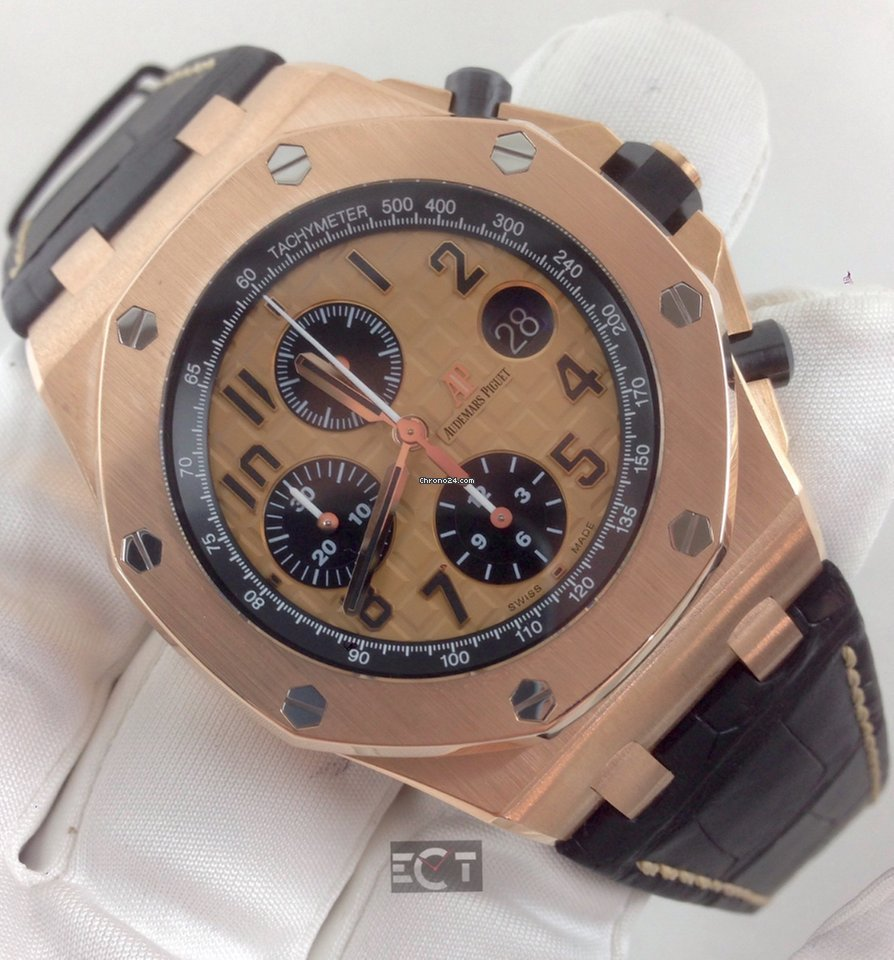 Audemars piguet royal oak offshore 42mm rose gold for 39 700 for sale from a trusted seller on for Royal oak offshore rose gold 42mm