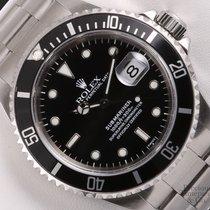 Rolex Submariner 16610 Stainless Steel 40mm Watch-Black Insert...