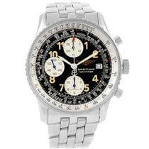 Breitling Navitimer Ii Black Dial Steel Mens Watch A13022