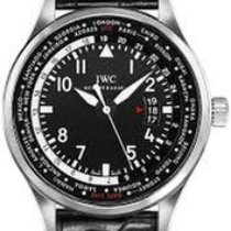 IWC Pilot Worldtimer Steel 45mm Black Arabic numerals United States of America, New York, NEW YORK