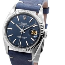 Rolex 36mm SS Datejust Factory Electric Blue Dial  w/ Original...