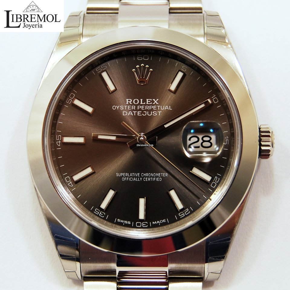 f52bcbf1cdef Rolex Datejust 41 mm Dark Rhodium Dial -NEW-