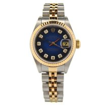 Rolex Lady-Datejust pre-owned 26mm Blue Date Gold/Steel